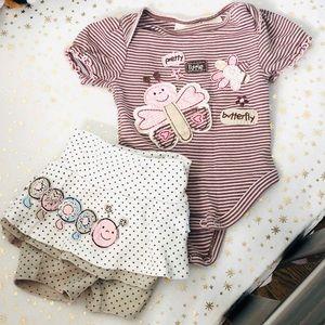 Newborn Girl Koala Kids Organics Outfit. Like New!